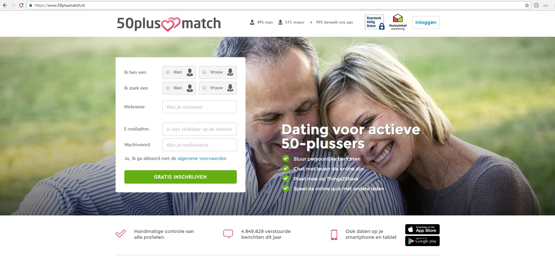 Datingsite boven 50